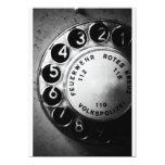 Telefon Wählscheibe 12,7 X 17,8 Cm Einladungskarte