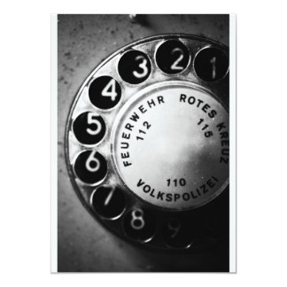 Telefon Wählscheibe Einladungskarte