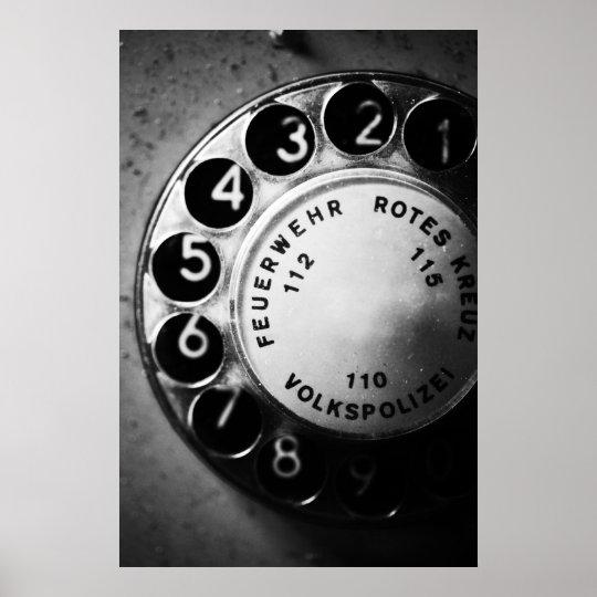 Telefon Wählscheibe Poster