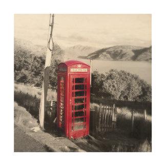 Telefon-Zuhause Holzleinwand