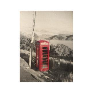 Telefon-Zuhause Holzposter