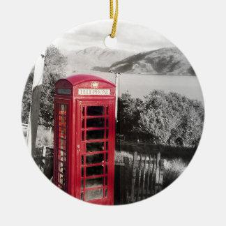 Telefon-Zuhause Rundes Keramik Ornament