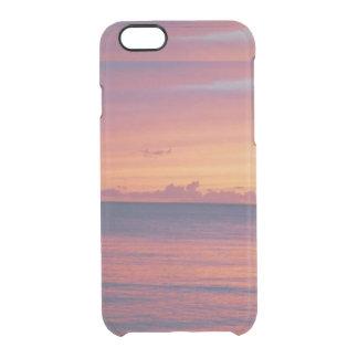 Telefonkasten Hawaii-Sonnenuntergangs I Durchsichtige iPhone 6/6S Hülle