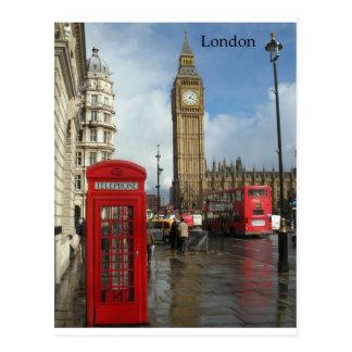 Telefonkasten Londons Big Ben (durch St.K) Postkarte