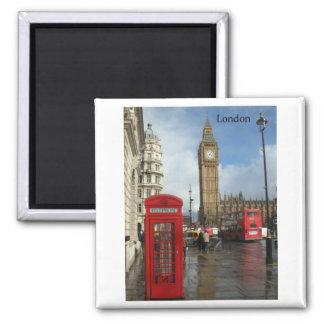 Telefonkasten Londons Big Ben (durch St.K) Quadratischer Magnet
