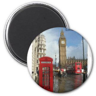 Telefonkasten Londons Big Ben (durch St.K) Runder Magnet 5,1 Cm