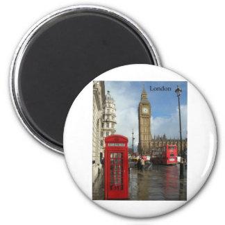 Telefonkasten Londons Big Ben (durch St.K) Runder Magnet 5,7 Cm