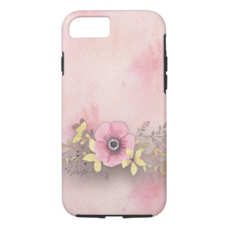 Telefonkasten -- Rosa Blume mit rosa Hintergrund iPhone 8/7 Hülle