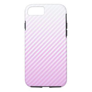 Telefonkasten -- rosa gestreifter Hintergrund iPhone 8/7 Hülle