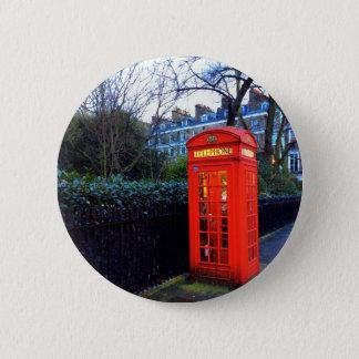 Telefonzelle-Abzeichen Londons rotes Runder Button 5,7 Cm