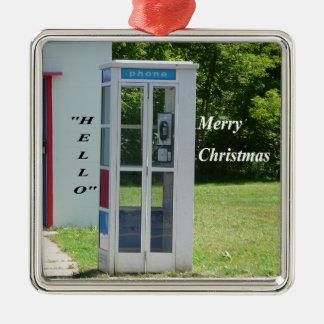 Telefonzelle Silbernes Ornament