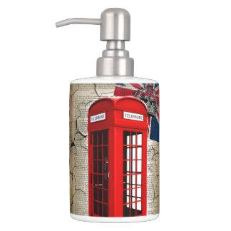 Telefonzellemode-Briten-Flagge Londons rote Badezimmer-Sets