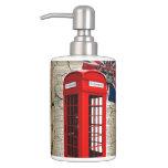 Telefonzellemode-Briten-Flagge Londons rote Zahnbürstenbehälter