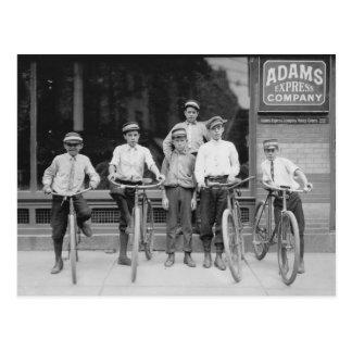 Telegramm-Bote-Jungen, 1911 Postkarte