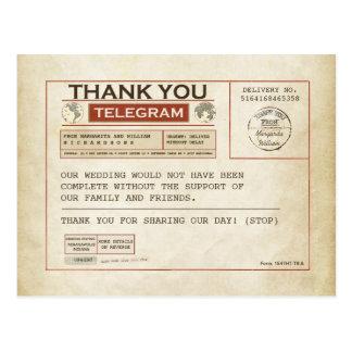 Telegramm danken Ihnen Karten für wedding Postkarten