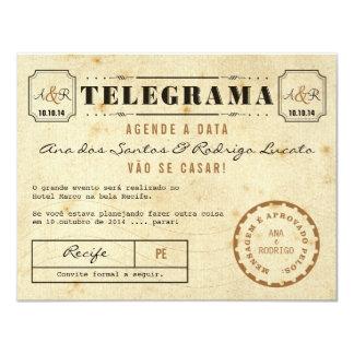 Telegramm des Vintage Agende das Datum Karte