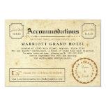 Telegramm-Hotelunterbringungs-Reise-Einsatz-Karte 8,9 X 12,7 Cm Einladungskarte