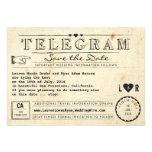 Telegramm mit Herz-Vintager Reise Save the Date