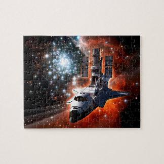 Teleskop-Grafik Raumfähre-Atlantis Hubble Puzzle