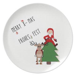 teller mit weihnachtlichen motiven