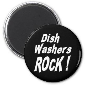 Teller-Waschmaschinen-Felsen! Magnet Runder Magnet 5,1 Cm