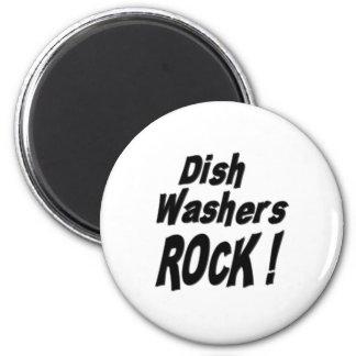 Teller-Waschmaschinen-Felsen! Magnet Runder Magnet 5,7 Cm