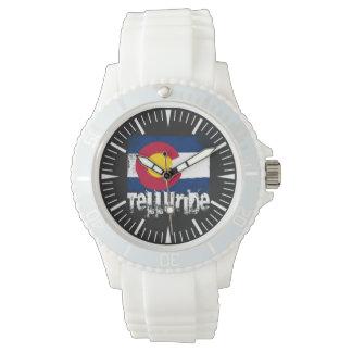 Tellurid-Schmutz-Flaggen-Uhr Armbanduhr