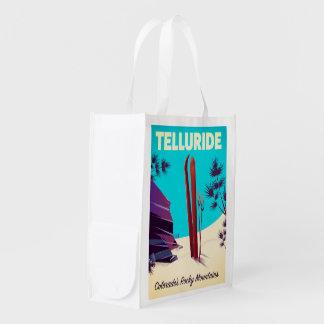Tellurid-Ski Rocky Mountains Wiederverwendbare Einkaufstasche