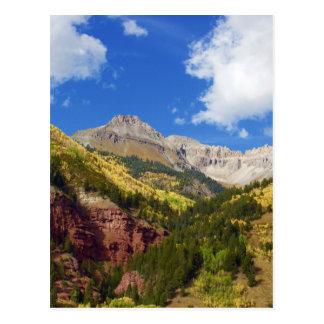 Tellurid-Tal-Herbst-Farben Postkarte