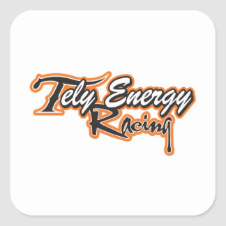 Tely Energie-laufendes Team-Kleid Quadratischer Aufkleber