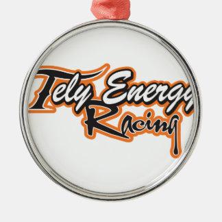 Tely Energie-Produkte Rundes Silberfarbenes Ornament