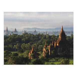 Tempel am Sonnenaufgang, Bagan, Myanmar Postkarte