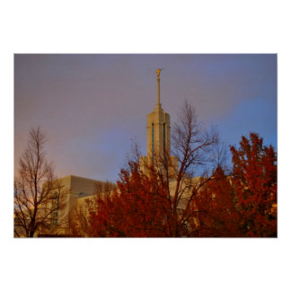 Tempel-amerikanische Gabel Mt. Timpanogos LDS, Uta Poster