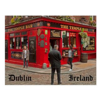 Tempel-Bar in Dublin, Irland Postkarte