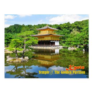 Tempel des goldenen Pavillons, Kyoto, Japan Postkarte