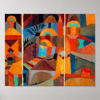 Tempel-Gärten: Paul Klee 1920 Poster