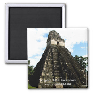 Tempel I, Tikal, Guatemala Quadratischer Magnet