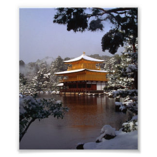 Tempel im Winter Fotodruck