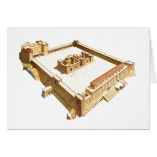Tempel in Jerusalem. Herods Tempel Karte
