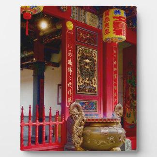 Tempel in Yilan, Taiwan Fotoplatte