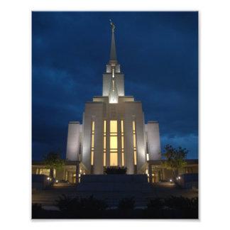 Tempel Oquirrh Gebirgsutahs LDS (Mormone) Fotodruck