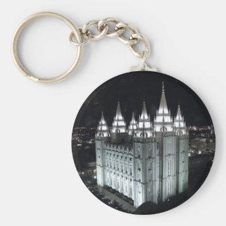 Tempel Salt Lake Citys LDS nachts Schlüsselanhänger