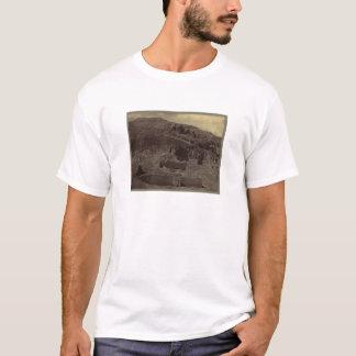 Tempel schnitzte in Bergabhang, Ägypten circa 1856 T-Shirt