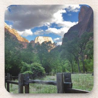 Tempel Sinawava Zion Nationalparks Utah Getränkeuntersetzer