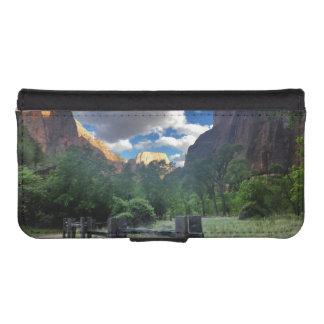 Tempel Sinawava Zion Nationalparks Utah iPhone SE/5/5s Geldbeutel Hülle