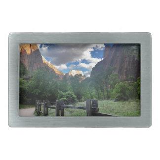 Tempel Sinawava Zion Nationalparks Utah Rechteckige Gürtelschnalle