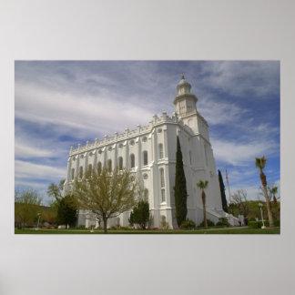 Tempel St George, Utah LDS Poster