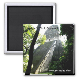 Tempel V, Tikal, Guatemala Quadratischer Magnet