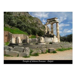 Tempel von Athene Pronaea - Delphi Postkarte