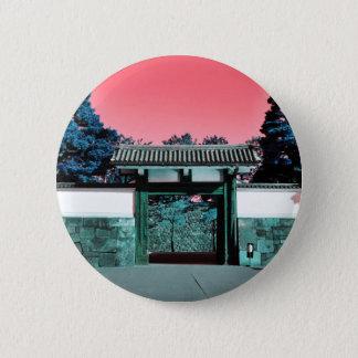Tempeltor in Tokyo, Japan Runder Button 5,7 Cm